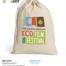 GREEN EARTH COTTON DRAWSTRING BAG 4579