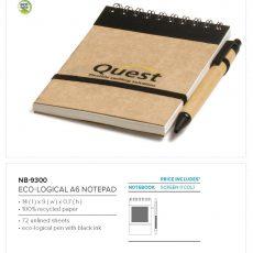 ECO-LOGICAL A6 MINI NOTEPAD 9300