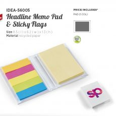 HEADLINE MEMO PADS AND STICKY FLAGS 56005