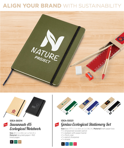 Savannah A5 Ecological Notebook & Genius Ecological Stationery Set