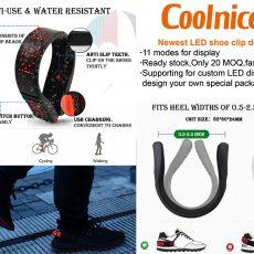 COOLNICE NEWEST LED SHOE CLIP DESIGN