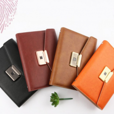FINGER PRINT LOCK AGENDA DIARY NOTEBOOK WITH POWER BANK