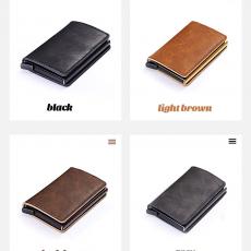 RFID Blocking Vintage Automatic Leather Credit Card Holder
